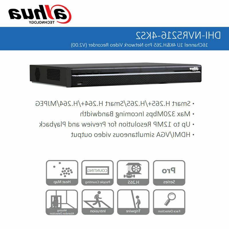 Dahua 4K 16CH 2 USB Ports Video Recorder