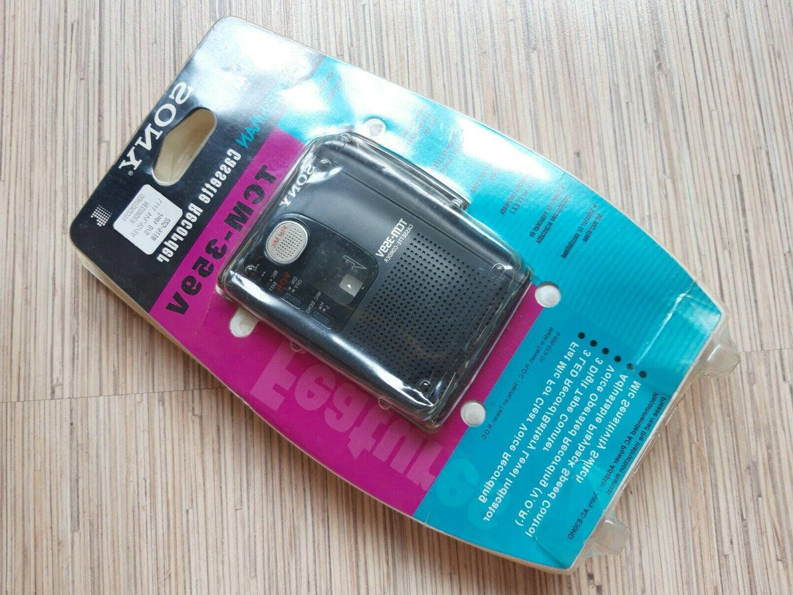 pressman tcm 359v portable personal cassette recorder