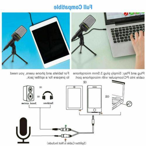 Professional Audio Condenser Mic Studio Sound Recording Tripod