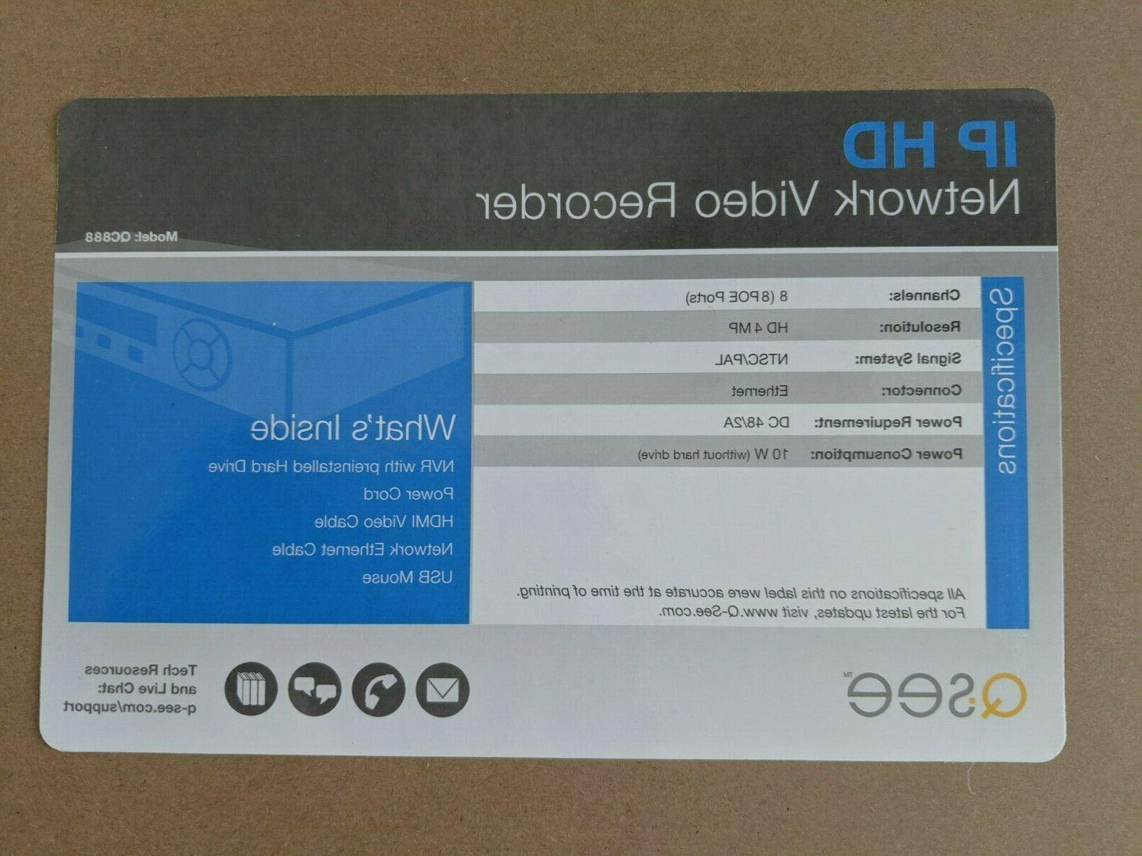 Q-See QC888 H.265 Recorder