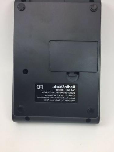 Radio Shack Desktop Digital Recorder Model 1400214 w/AC Power Cable