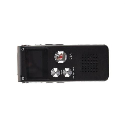 Rechargeable Recorder MP3 Player Black P2Z5
