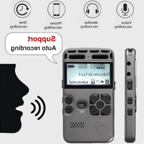 64GB LCD Digital Audio Dictaphone