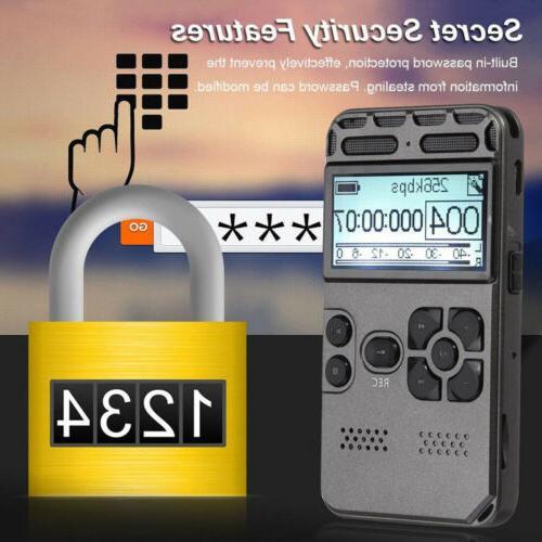 64GB Rechargeable Digital Audio Voice