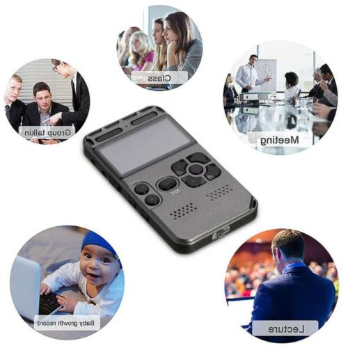 64GB LCD Audio Voice Recorder Dictaphone Player