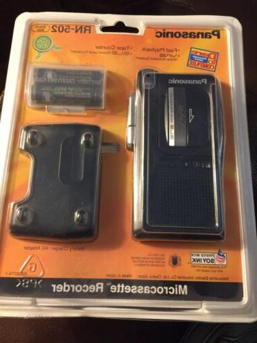 rn 502 microcassette recorder new