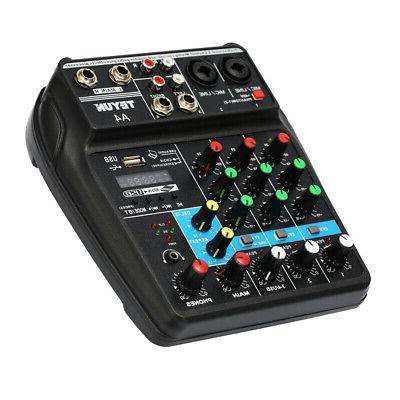 TU04 Sound 4 Channels Mixer with
