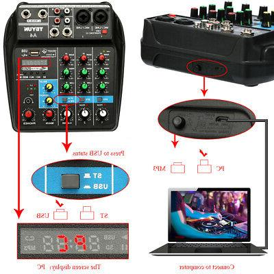 TU04 Mixing Console 4 Channels with