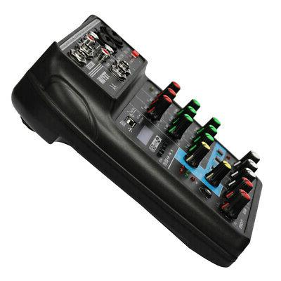 TU04 Console 4 Channels Audio Mixer with USB