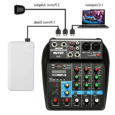 tu04 bt sound mixing console record 48v