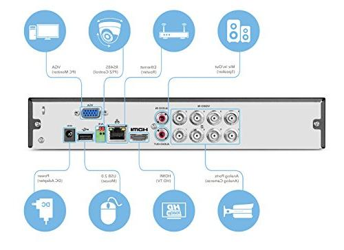Amcrest 4K Channel DVR DVR Security Cameras Cameras, Remote Access, HDD & Cameras Included