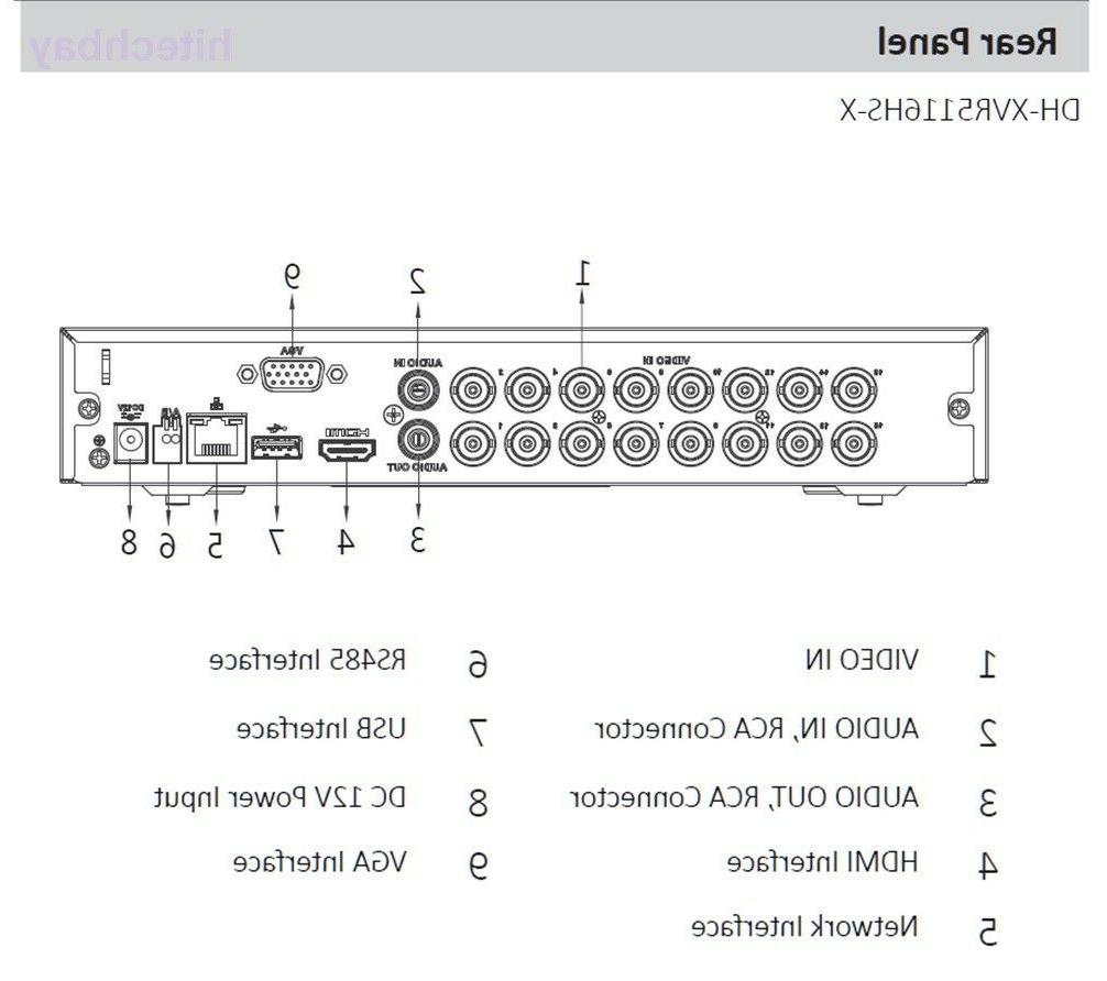 US XVR5116HS-X 5MP 16CH + DVR XVR Video Recorder