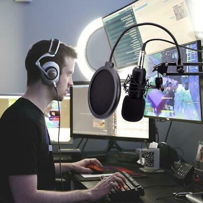 USB Microphone Mic Kit Stand Studio PC Game Chat