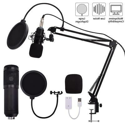 usb condenser microphone mic kit stand
