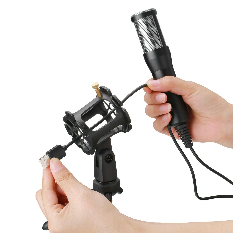 USB Microphone Tripod Stand Chat