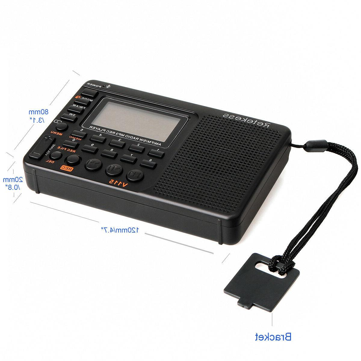 Retekess FM/AM Sleep Timer MP3 Rechargeable Voice