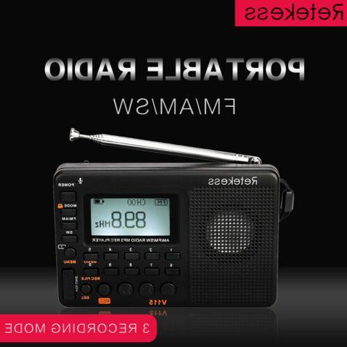 Retekess V115 Sleep Timer Rechargeable Voice