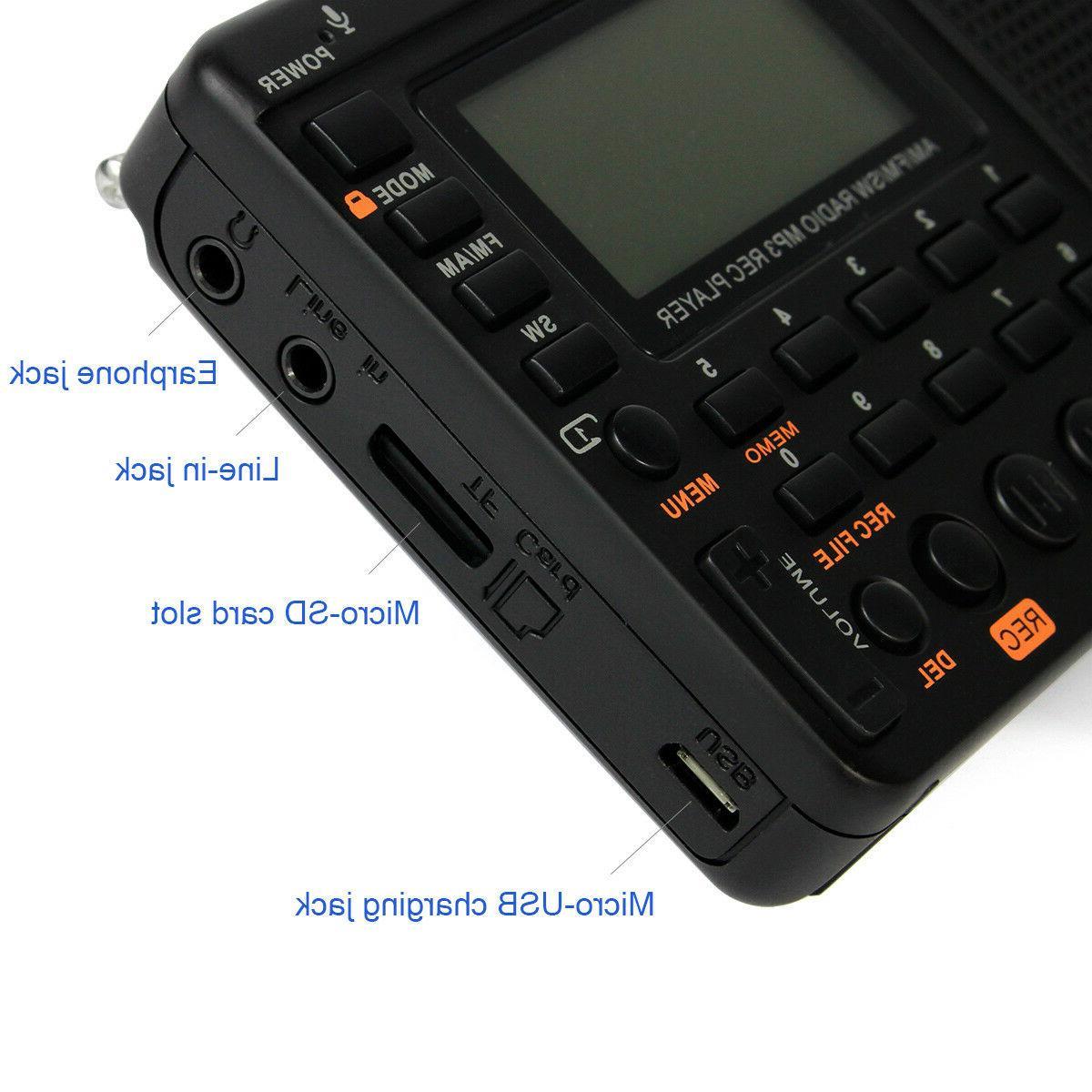Retekess FM/AM Radio Sleep Rechargeable Voice US