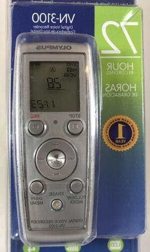 Olympus VN-3100 Digital Voice Recorder 72 Hours NEW