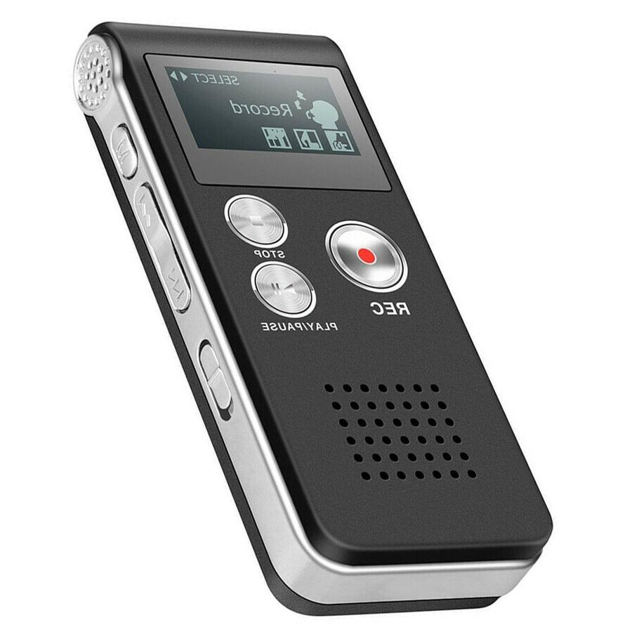 voice activated digital recorder 8gb usb w