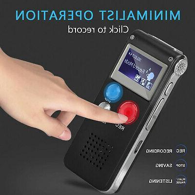 Digital Mini Spy Sound Dictaphone Handheld Audio Recording