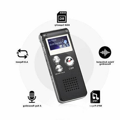 Digital Recording Device Voice Player 8GB