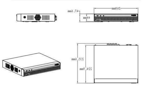 Dahua video XVR5104HS-X1 1080P Mini 1U