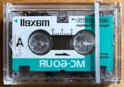 Maxell MC-60UR 60-Minute Microcassette Tapes for Dictation M