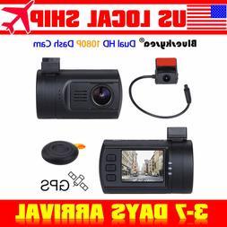 "Mini 1.5"" LCD HD 0906 Dual Dash Rear Camera HD Video Loop Re"