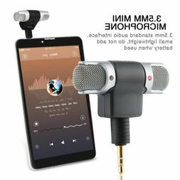 Mini 3.5mm Stereo Microphone Mic Audio Recorder For iPhone A