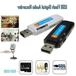 Mini Digital Audio Voice Recorder Dictaphone USB Flash Drive