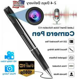 Mini Hidden Spy Camera Pen HD 1080P Video Recorder Clip On B