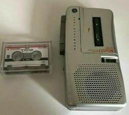 MINT!  GE  3-5383  AVR MICROCASSETTE DICTATION RECORDER + TA