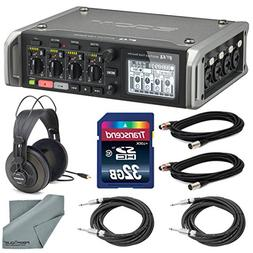 Zoom F4 Multitrack Field Recorder with Timecode w/ Samson SR