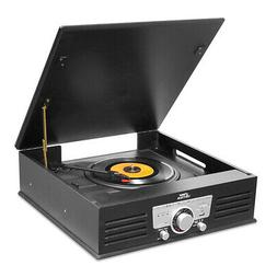 New Pyle Bluetooth Classic Style Record Player Turntable wit