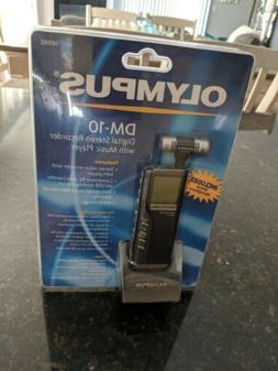 NEW Olympus DM-10 Handheld Digital stereo Recorder with musi