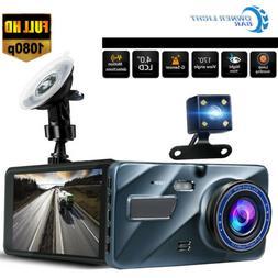 "New Full HD 1080P Wide Angle Len Car 4.0""Automobile Data Rec"