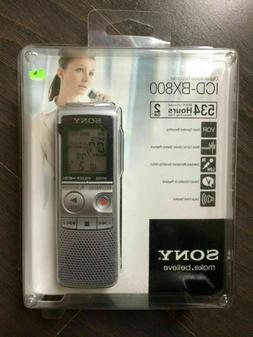 New Sony ICD-BX800 Handheld Digital Voice Recorder 2GB/534 h