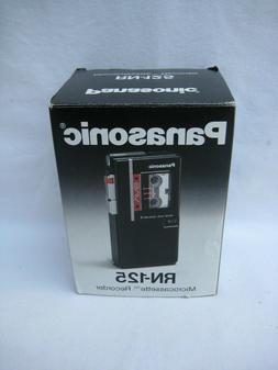 New Panasonic Microcassette Recorder RN 125 Voice Activation
