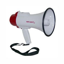 New Pyle Professional Megaphone/Bullhorn with Siren & Voice