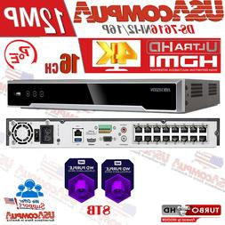 HIKVISION NVR 16 CHANNEL 16CH POE 12MP 4K DS-7616NI-I2/16P