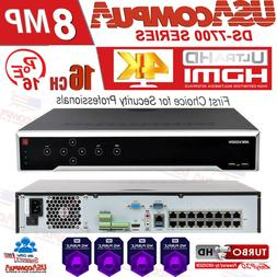 HIKVISION NVR 16 CHANNEL 16CH POE 4K DS-7616NI-Q4/16P 8MP H2