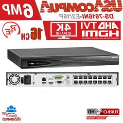 HIKVISION NVR 16 CHANNEL P0E 6 MEGAPIXEL  Network Video Reco