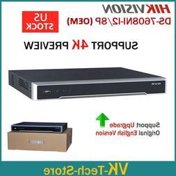 HIKVISION NVR Recorder DS-7608NI-I2/8P OEM 4K 12MP 8CH 2SATA