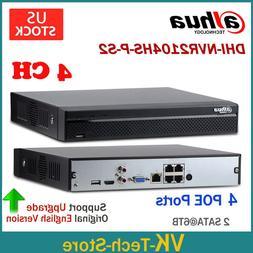 Dahua NVR2104HS-P-S2 4-Channel Compact 1U 4 PoE Lite Network