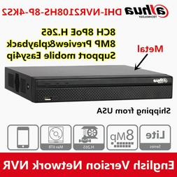 Dahua NVR2108HS-8P-4KS2 8CH 8PoE 4K H.265 Lite Network Video