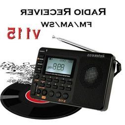 Portable Radio FM/AM/SW World Band Receiver With Sleep Timer