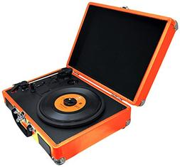 PYLE PVTTBT6OR Bluetooth Classic Vintage Style Vinyl Player