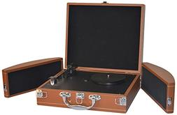 Upgraded Pyle Vintage Record Player - Classic Vinyl Player,