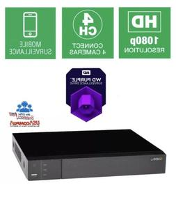 Q-See QTH43-1 4 CH 1080p BNC Surveillance Recorder Analog HD